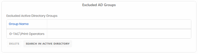 Excluded Active Directory Groups from NTFS Permissions Report