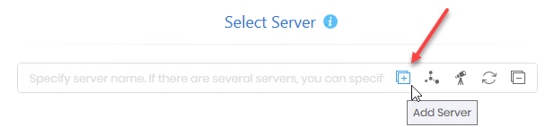 Add Server manually to generate a Share Report