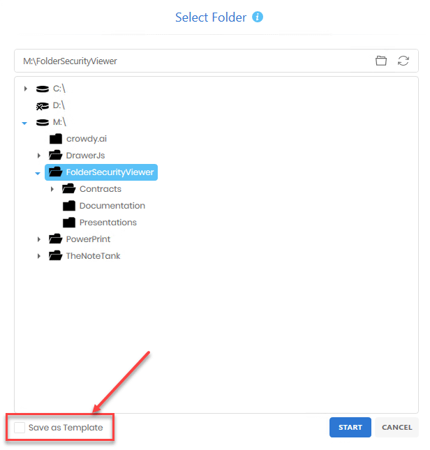 Save the current Permissions Report as a template