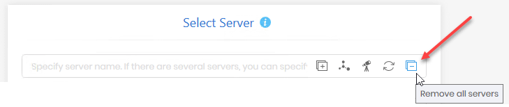 Remove all servers from list